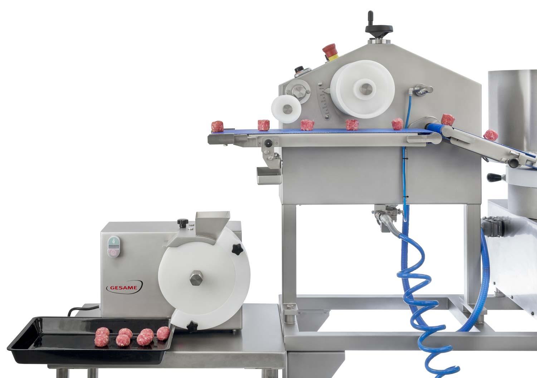 Gesame MH Super 114 Burgermaschine in Kombination mit MBM-MH Fleischbällchenmaschine