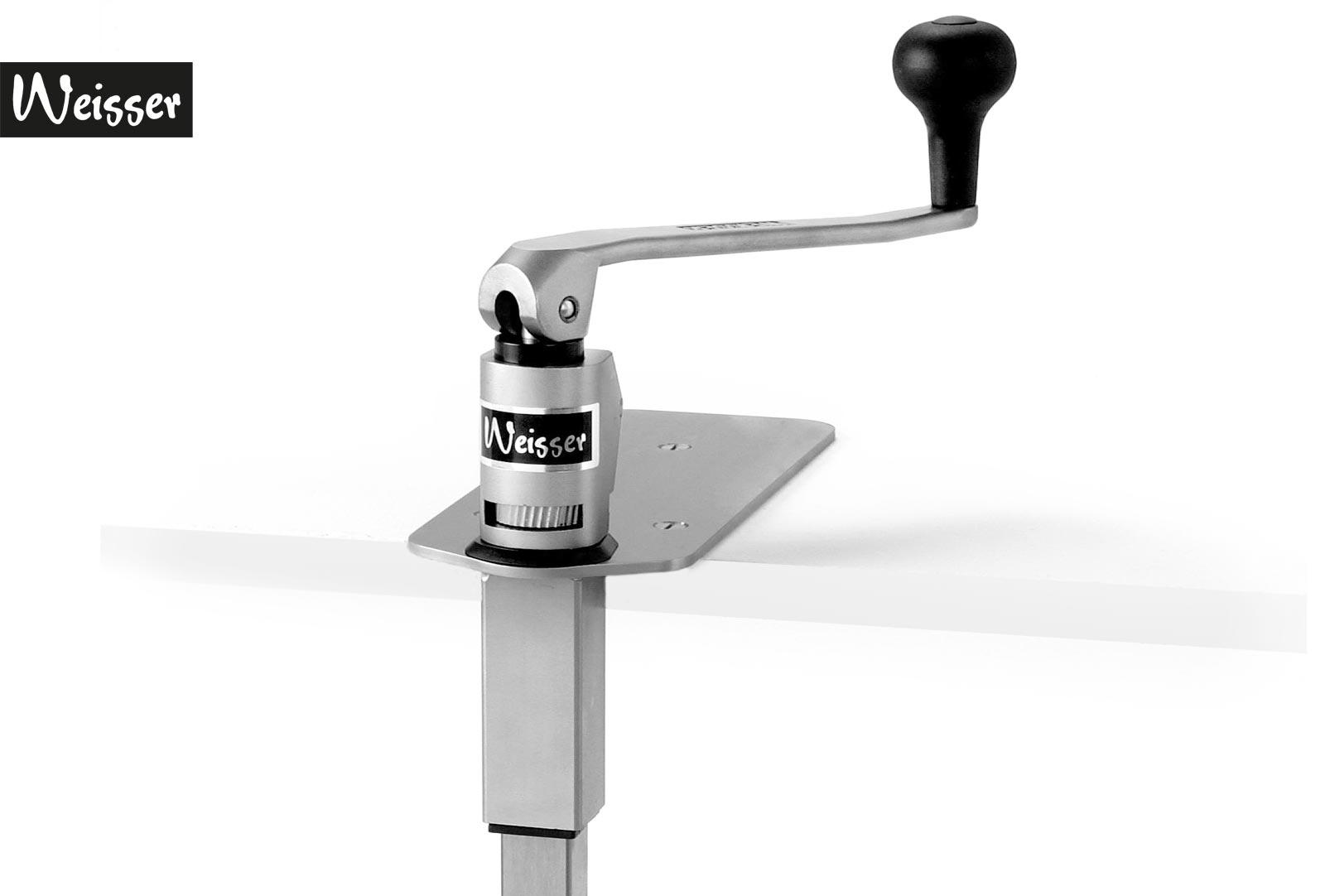 Weisser Tisch-Dosenöffner Modell DO10 für Dosen bis 10/1