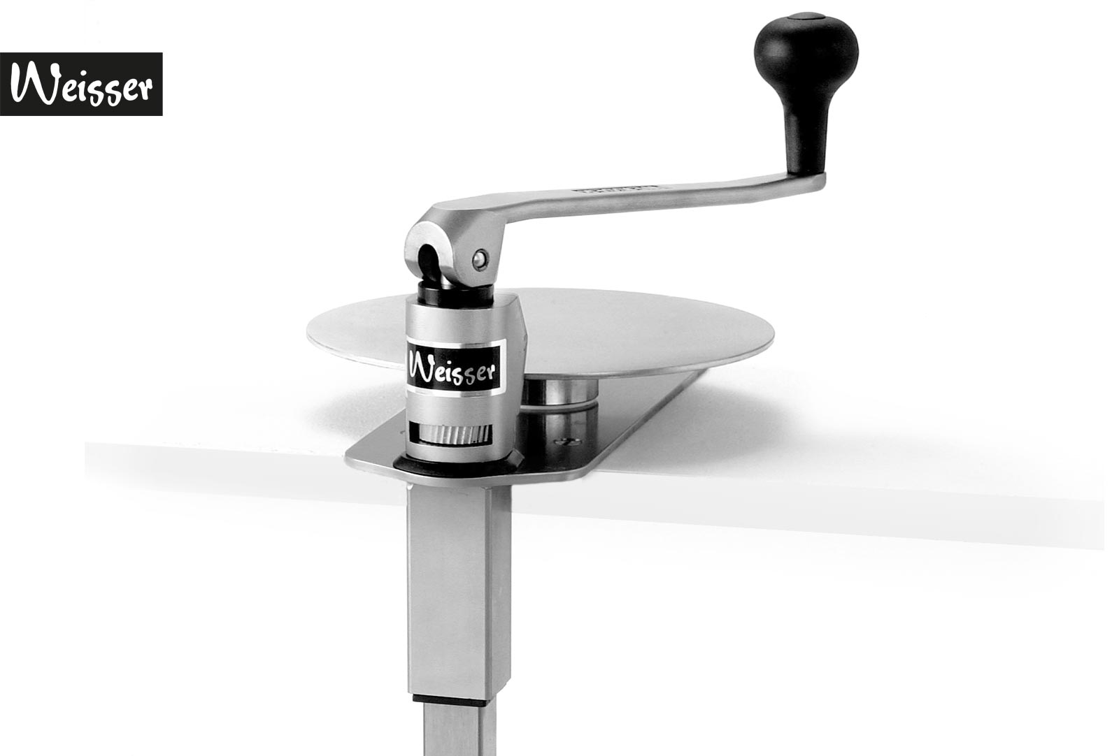 Weisser Dosenöffner DO 101 mit drehbarer Tellerplatte